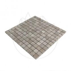 Mozaic Travertin Latte Antichizat 2.3 x 2.3cm - Mozaic piatra naturala