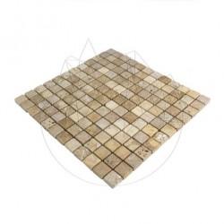 Mozaic Travertin Yellow Antichizat 2.3 x 2.3cm - Mozaic piatra naturala