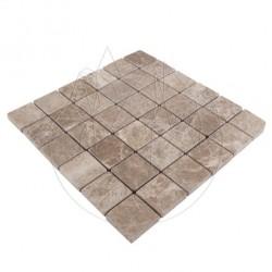Mozaic Marmura Light Emperador Antichizata 4.8 x 4.8cm - Mozaic piatra naturala