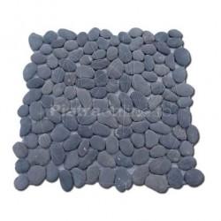 Mozaic Pebble Black Mat - Mozaic piatra naturala