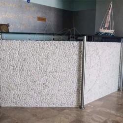 Mozaic Pebble White Mat - Mozaic piatra naturala