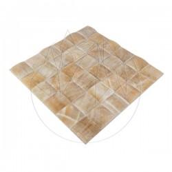 Mozaic Onix Honey Pyramid Polisat 5 x 5cm - Mozaic piatra naturala