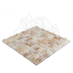 Mozaic Onix Honey Herringbone Polisat - Mozaic piatra naturala