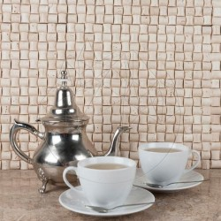 Mozaic Travertin Classic Sugar Antichizat - Mozaic piatra naturala