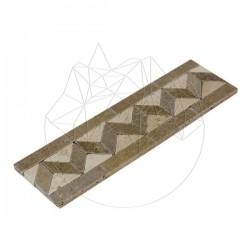 Bordura B8 Travertin Noce si Classic - Mozaic piatra naturala