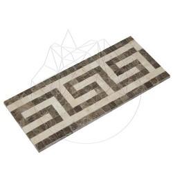 Bordura Versace Marmura Dark Emperador si Burdur Beige - Mozaic piatra naturala