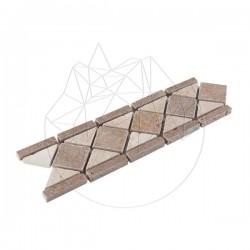 Bordura B21 Travertin Classic si Noce Antichizata - Mozaic piatra naturala