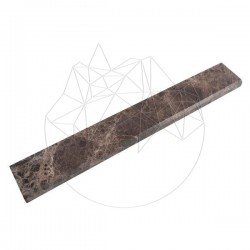 Plinta Marmura Marron Emperador Polisata 7 x 30 x 2cm (Bizot 1L) - Mozaic piatra naturala