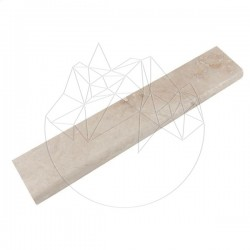 Plinta Travertin Classic, Cross Cut, Mat, 7 x 39 x 2cm (Semibaston 1L) - Mozaic piatra naturala