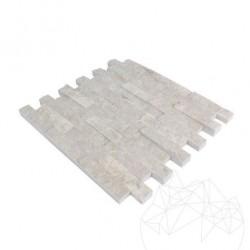 Mozaic Marmura Burdur Beige Scapitata 2.5 x 10cm - Mozaic piatra naturala
