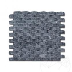 Mozaic Marmura Black Oval Scapitata 1.8 x 5 cm - Mozaic piatra naturala
