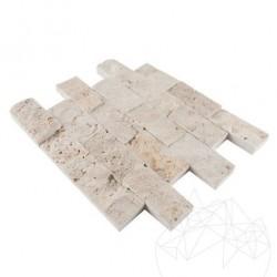 Mozaic Travertin Sunny Desert Scapitata 5 x 10cm - Mozaic piatra naturala