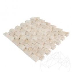 Mozaic Travertin Classic Scapitat Siding 2.5 x 5cm - Mozaic piatra naturala