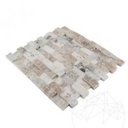 Mozaic Onix Verde Scapitat 2.5 x 5 cm - Mozaic piatra naturala
