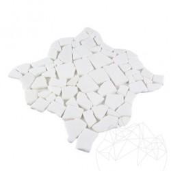 Mozaic Marmura Thasos Crazy Paving Antichizat 1cm - Mozaic piatra naturala