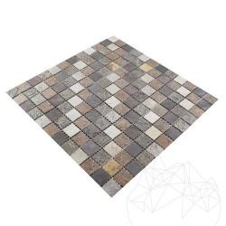 Mozaic Ardezie Multicolora Flexibila SKIN 2 x 2 cm - Mozaic piatra naturala