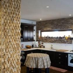 Mozaic Travertin Yellow Scapitat Angled 2.3 x 4.8 cm - Lichidare Stoc - Mozaic piatra naturala