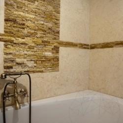 Mozaic Travertin Yellow Scapitat 2.5 x 10 cm - Mozaic piatra naturala