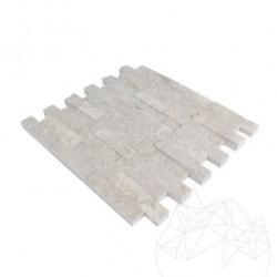 Mozaic Marmura Burdur Beige Scapitata 2.5 x 10 cm - Mozaic piatra naturala