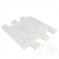 Mozaic Marmura Mugla White Scapitata 5 x 10 cm - Mozaic piatra naturala