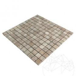 Mozaic Travertin Latte Antichizat 2.3 x 2.3 cm - Mozaic piatra naturala