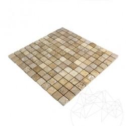 Mozaic Travertin Yellow Antichizat 2.3 x 2.3 cm - Mozaic piatra naturala