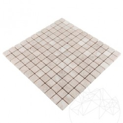 Mozaic Marmura Cappuccino Antichizata 2.3 x 2.3 cm - Mozaic piatra naturala