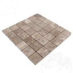 Mozaic Marmura Light Emperador Antichizata 4.8 x 4.8 cm - Mozaic piatra naturala