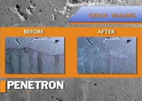 Penetron autorepara fisuri de 0.4mm permanent - Hidroizolatii si impermeabilizare pentru structuri din beton
