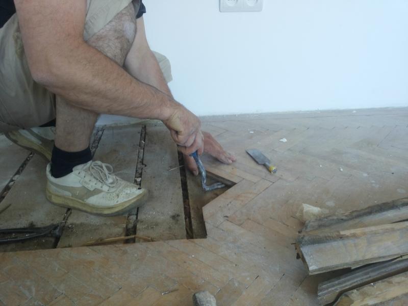 2 - Efectuarea de reparatii si reconditionare parchet masiv vechi