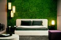 Perete viu cu licheni in dormitor - Pereti verzi