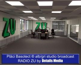 Placi Basotect alb / gri studio broadcast Radio ZU - Izolatii fonice
