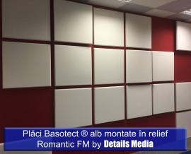 Placi Basotect montate in relief Studio Romantic fm - Izolatii fonice