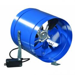 Ventilator axial metalic pt tubulatura fi 318mm,1700mc/h - Ventilatie industriala ventilatoare axiale de perete si de tubulatura