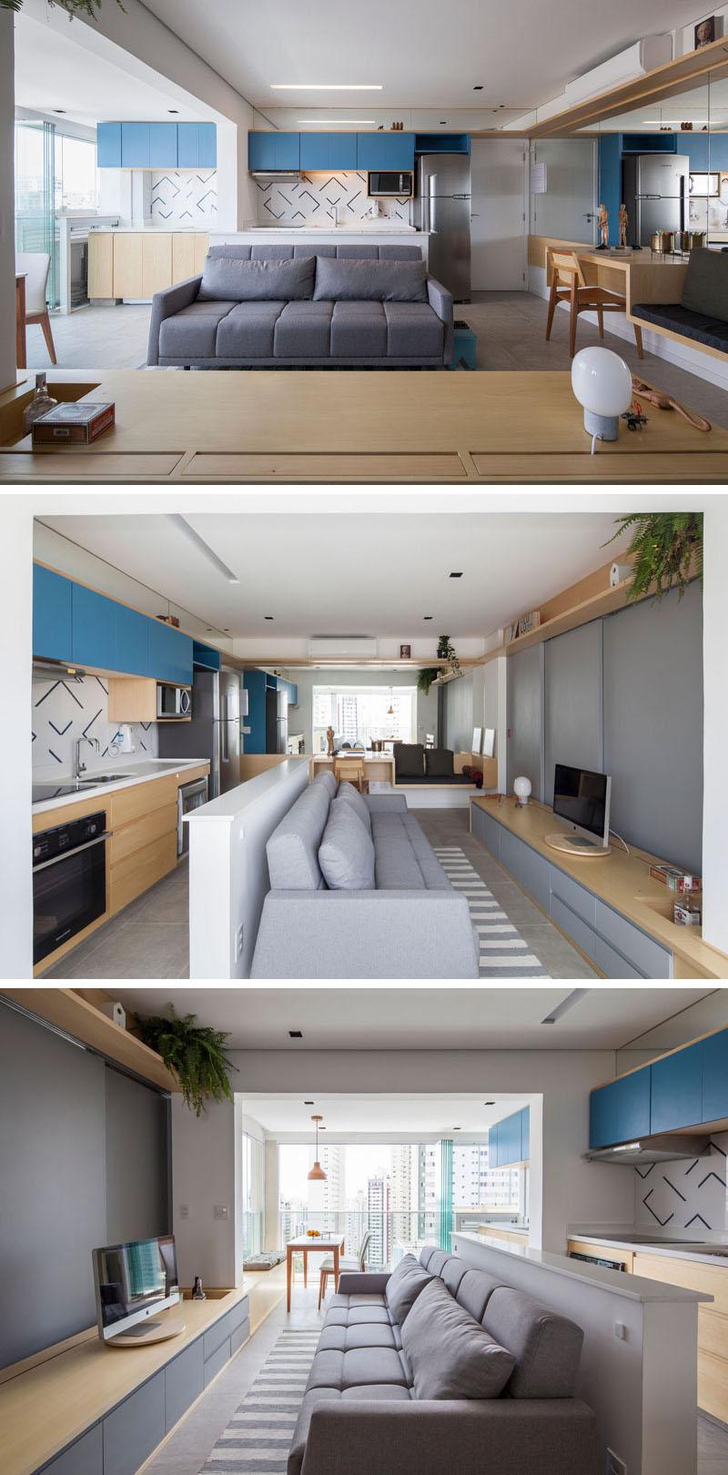 Ce faci cand apartamentul are doar 32 mp? Ascunzi dormitorul in spatele peretelui! - Ce faci