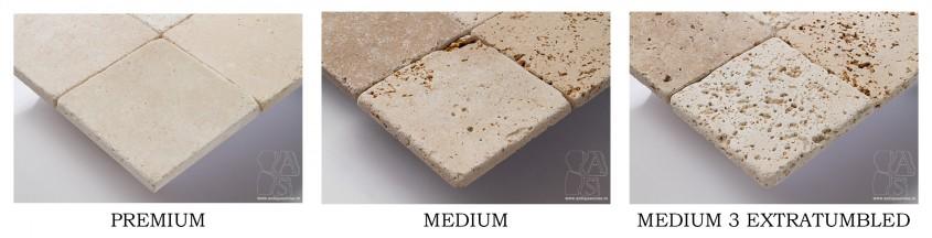 Travertin premium, medium și medium 3 extratumbled - Faci aceste greșeli când cumperi piatră travertin?