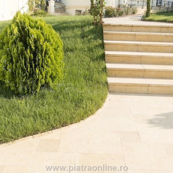 marmura sunny dream french pattern brushed - Amenajarea terasei: piatra naturala pentru pardoseala