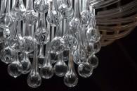 Candelabru in forma de picaturi de apa - lustre din sticla realizate la comanda