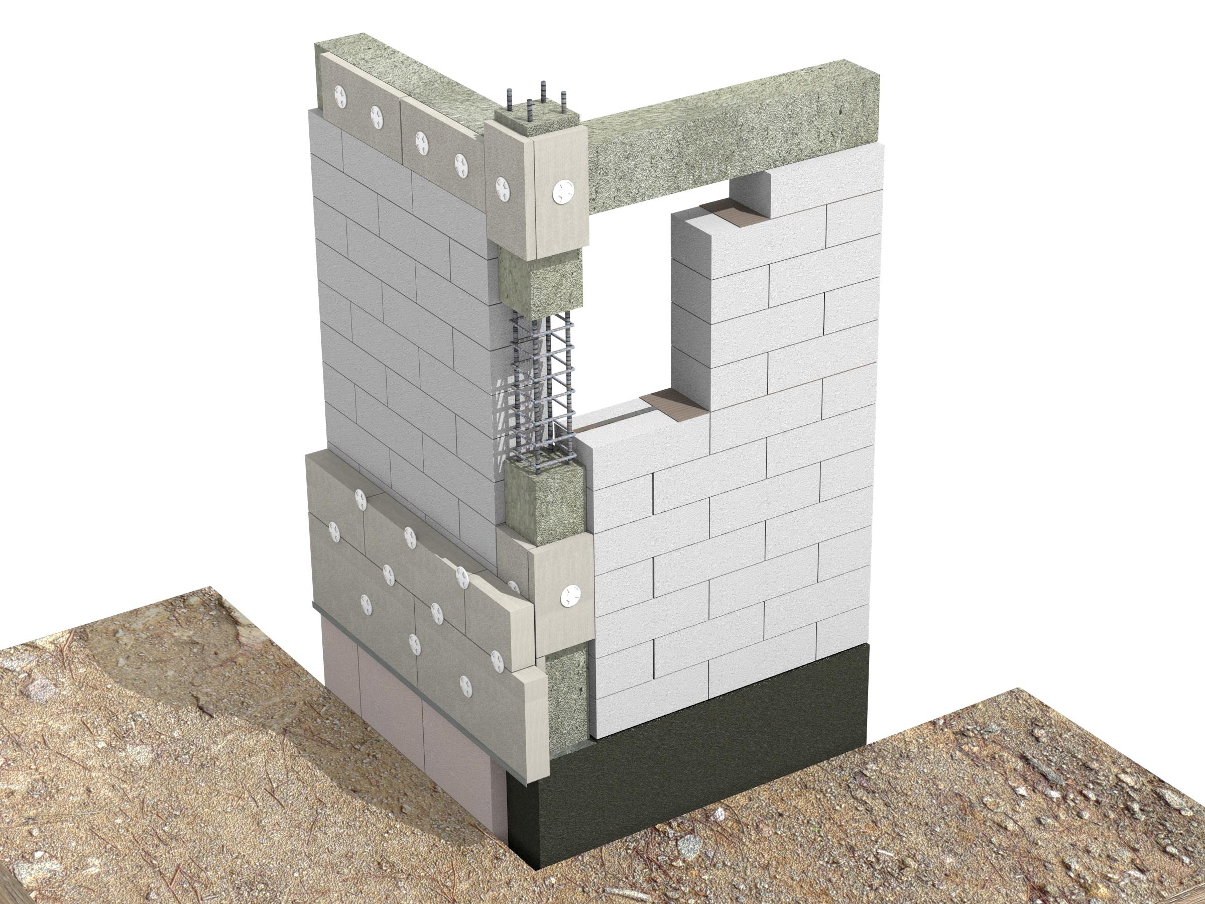 Racord de colt zidarie portanta - atenuare punti termice in cazul zidariei multistrat - Racordul cu