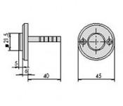 Buton de alama pentru broaste electrice - cod 06110.00 - Accesorii pentru broaste si yale electromagnetice aplicate