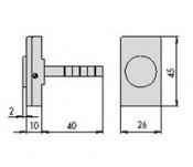 Buton nylon pentru yale electrice - cod 06110.10 - Accesorii pentru broaste si yale electromagnetice aplicate