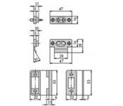 Set contacte nylon pentru broaste electrice in set cu distantieri - cod 06511.00 - Accesorii pentru broaste si yale electromagnetice aplicate