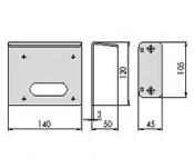 Suport metalic pentru yale cod 07061.00.1/2 - Accesorii pentru broaste si yale electromagnetice aplicate