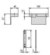 Set contraplaca - cod 07018.10.34 - Accesorii pentru broaste si yale electromagnetice aplicate