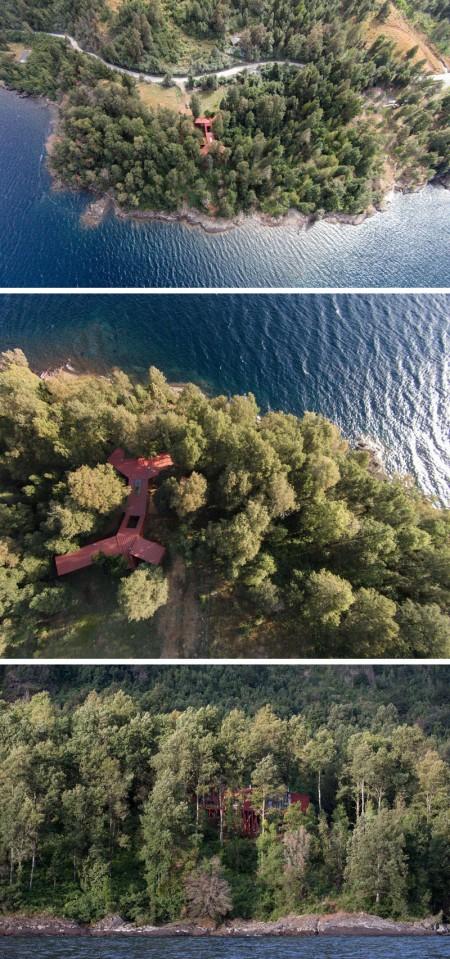 O casa ale carei volume coboara in cascada pe versantul dealului - O casa ale carei volume coboara in cascada pe versantul dealului
