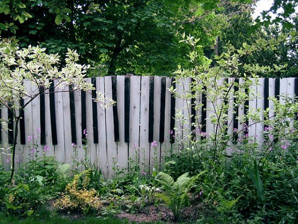 Gardul-claviatura - Cateva idei altfel pentru garduletele decorative de gradina