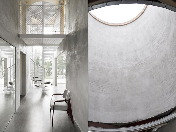O casa compusa din sase pereti de beton armat si multe vitraje - O casa compusa