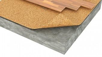 Izolatie termica si fonica din pluta aglomerata pentru pardoseli flotante - Izolatie din pluta aglomerata pentru pardoseli incalzite Acousticork