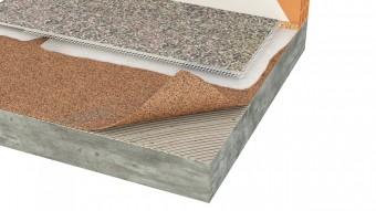 Izolatie termica si fonica din pluta aglomerata pentru linoleu/vinyl - Izolatie din pluta aglomerata pentru pardoseli incalzite Acousticork
