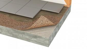 Izolatie termica si fonica din pluta aglomerata pentru pardoseli ceramice si piatra - Izolatie din pluta aglomerata pentru pardoseli incalzite Acousticork